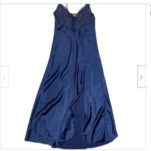 Victorias Secret Vintage Gold Label Gown Navy 90s